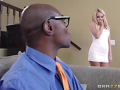 Big Stygian dick for blonde housewife Aaliyah Love and she loves well supplied