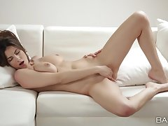 Marvellous orgasms this busty doll reaches during her solo