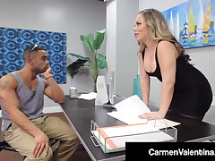 Sweet Pussy Carmen Valentina Malignant Dicked Off out of one's mind Big Black Cock!