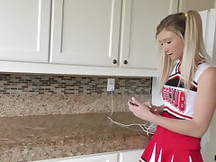 A slutty cheerleader has sex adjacent to her stepfather increased by that girl gives enjoyable buff