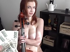 BBW CZECH GIRL SOPHIA TRAXLER FUCKING FOR Valuables AFTER PLAYING GAME OF THRONES THEME ON VIOLIN
