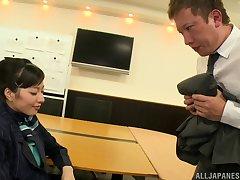 Nice video of gorgeous Kana Yume having dealings with regard to her horny boss