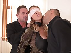 Naughty wife Victoria Summers gets her first MMF threesome