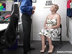 Domineer sexy chubby woman gets punished for shoplifting