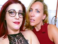 Mya With an increment of Flora Enjoy Naughty Lesbian Sex Prizefight With Mya Lorenn