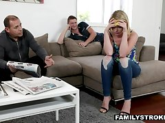 Douchy stepbro blackmails dixie lynn into sixty-nine