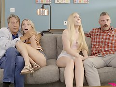 Blonde beauties quota and swap in nutty XXX home foursome