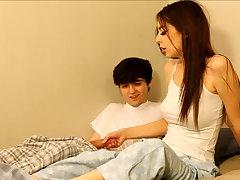 Perverted older brother seduces breast-feed