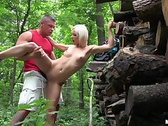 Euro Babe Fucked in the Woods