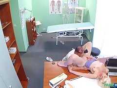 Horny blonde milf wants doctors cum inside her