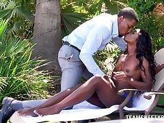 Ebony with skinny ass, insane racing porn