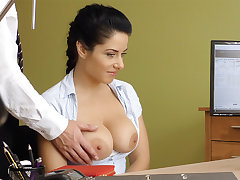 Humungous naturals dark-haired poke anal invasion for change approval