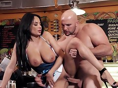 Stunning Anissa Kate gets penetrated unconnected with a large cock - HD