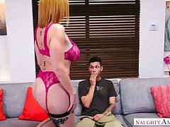 Mouth watering cougar Sara Jay allows young neighbor to penetrate her pussy