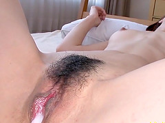 Satomi Suzuki JaV Teen fucks in multi pos uncensored action, skinny Girl with slightly flabby ass