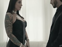 Tattooed sassy bitch Ivy Lebelle gets her pussy increased by anus banged