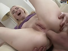 Slim Blondie Chick Likes It Hard - ANALDIN