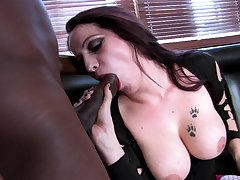 Tattooed busty ambit battle-axe Sasha Rose loves getting pounded overwrought a BBC