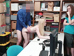 Teen unspecified fucked in store's backroom