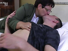 Taboo mature MOM fucks will not hear of young boy