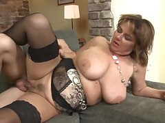 Mature busty mother drag inflate n lady-love young lucky son