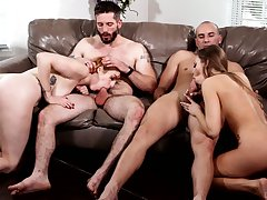 Juggy peppery addict Lauren Phillips and morose Britney Amber swap boyfriends