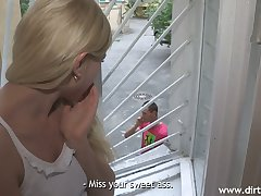 Lustful blond girlfriend Lindsey Olsen makes her boyfriend cuckold