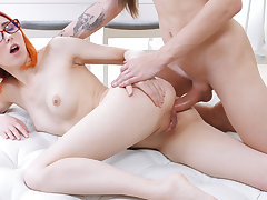 Teens Analyzed - Elin Holm - Elin Holm redhead undersized anal