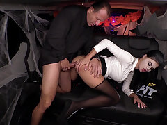 British babe plays officialdom woman