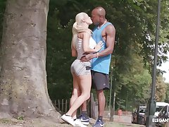 Hardcore ass fuck for kermis teen Blanche Bradburry by a black guy