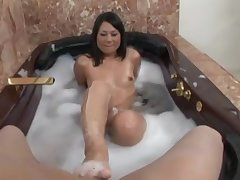 Kick an obstacle bucket relaxing bath sexy Kayme Kai please hard friend's penis in an obstacle square