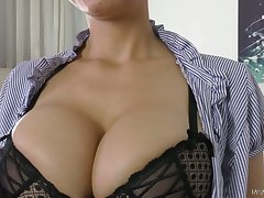 Marvelous busty sexpot Mila Milan is eager approximately driveway stud anent cowgirl pose