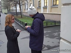 Accurate Russian chick Karry Slot is picked up and fucked by little short of known dude