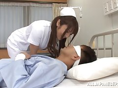 Nurse Shiori Kamisaki fucks her patient far the sickbay wildly