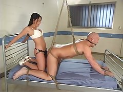Hot neonate ass fucks male slave in the most intriguing femdom