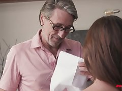 Nothing like a bad complain getting punished with the addition of fucked by her stepdad